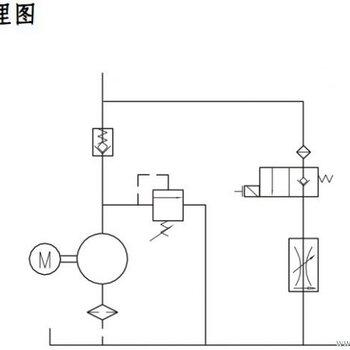 桅杆升降机简易停车设备液压系统
